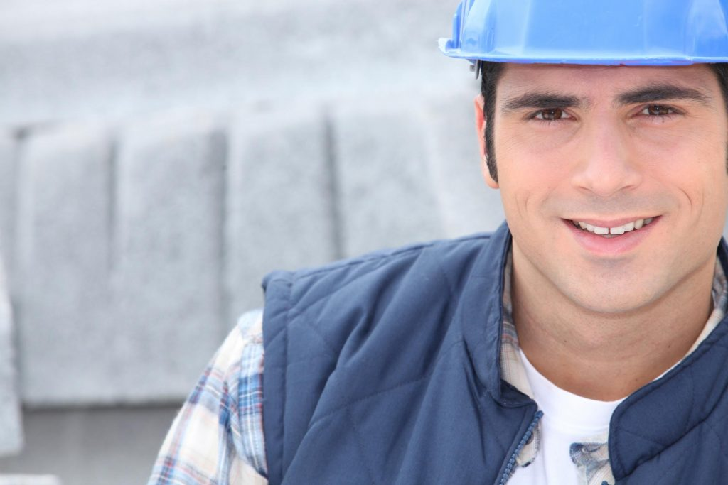 construction worker smiling posing