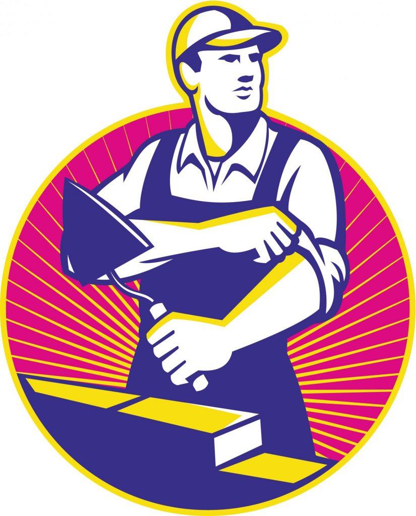 concrete masonry worker logo