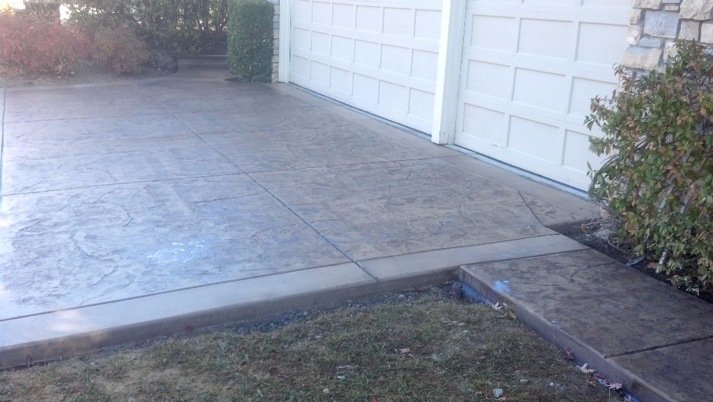 this is an image of san ramon concrete and msonry stamped concrete