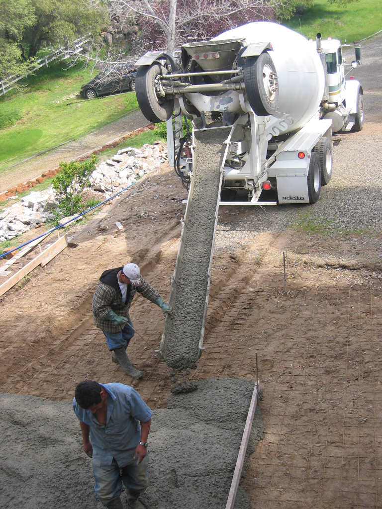 this is a picture of san ramon concrete masonry concrete pouring project