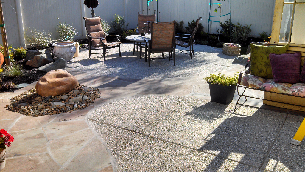 this is an image of concrete masonry san ramon patio pavers