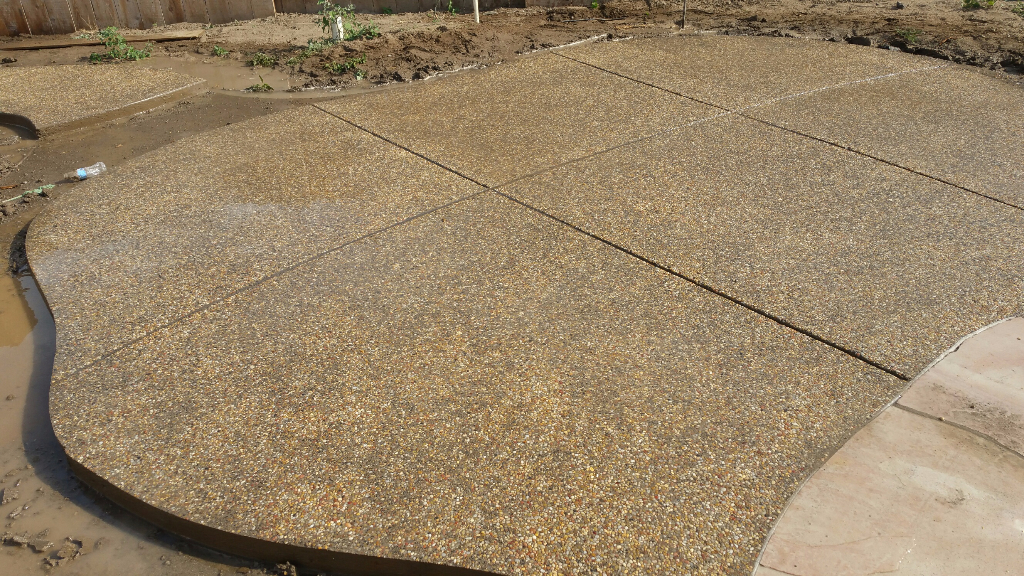 this image shows san ramon concrete masonry stained concrete patio project