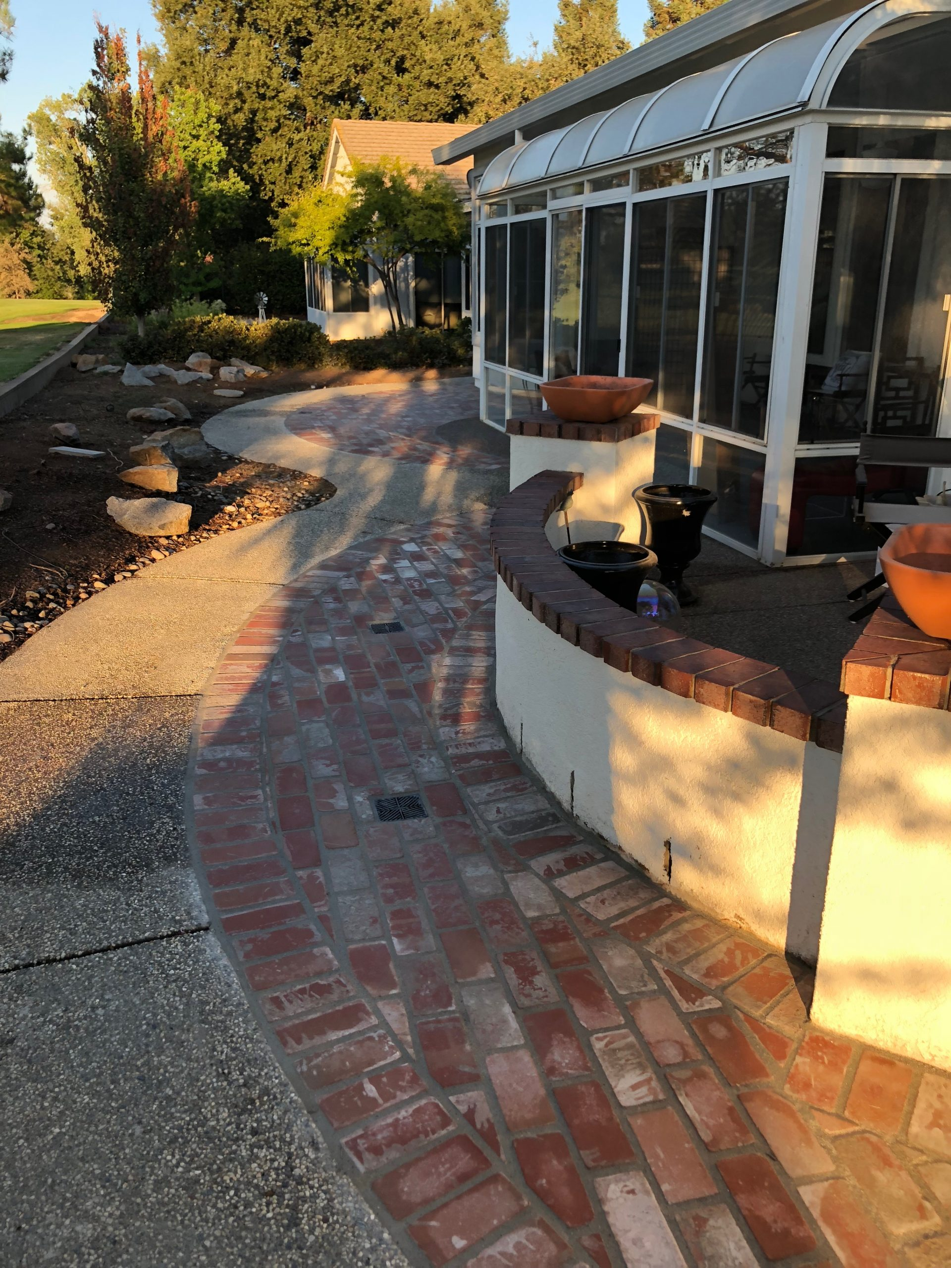 An image of finished brick paver works in San Ramon.