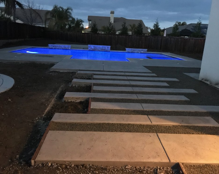 An image of finished concrete work in San Ramon.