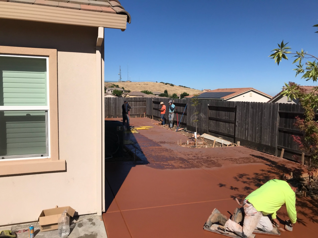 A picture of colored concrete works in San Ramon.