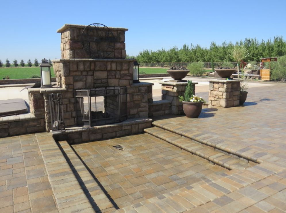 this is an image of outdoor fireplace in San Ramon