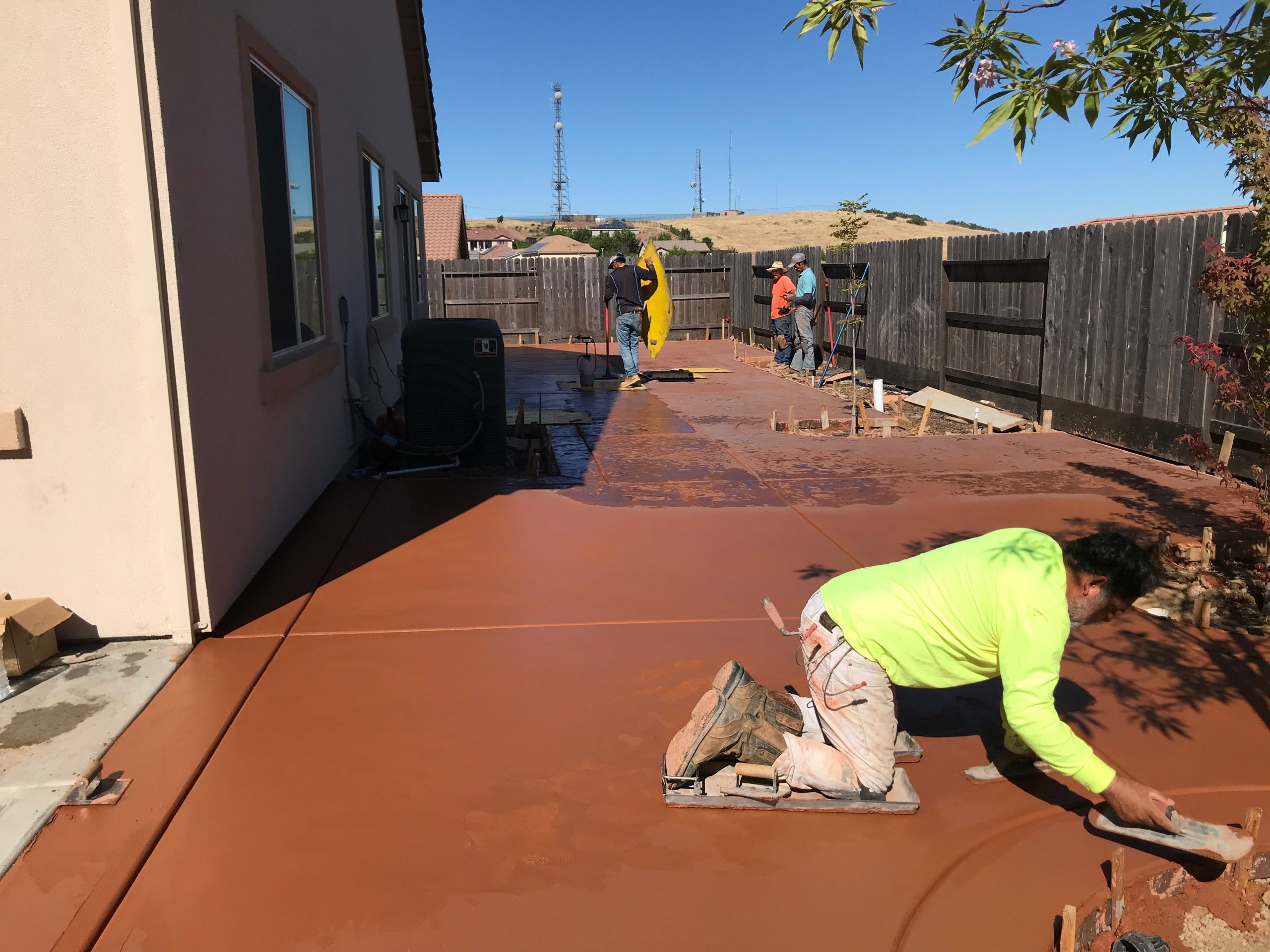 A picture of stained concrete in San Ramon.