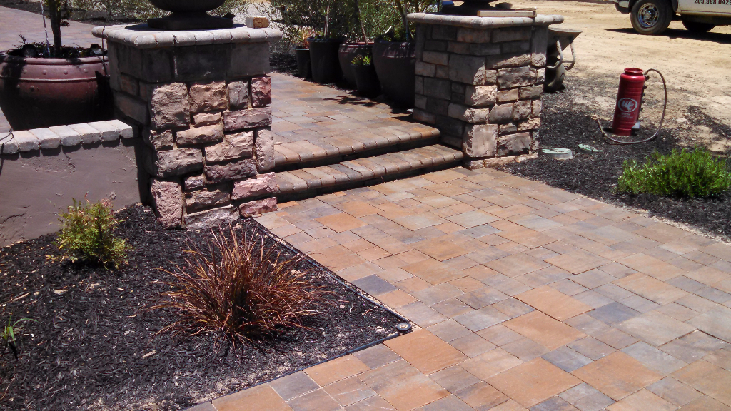 this is an image of stone pavers in San Ramon
